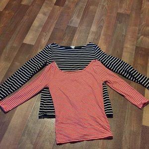 J Crew bundle of two shirts size XS